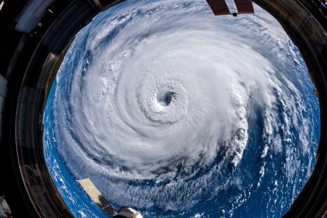 Foto do furacão Florence capturada pelo astronauta Alexander Gerst a bordo da Estação Espacial Internacional, em 12 de setembro de 2018. Crédito: Nasa.