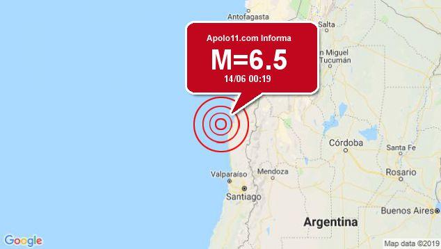 Forte terremoto atinge Chile, a 79 km de Coquimbo