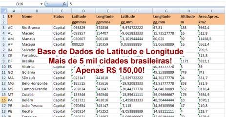 APOLOCOM Latitude E Longitude Das Cidades Brasileiras - Latitude longitude altitude