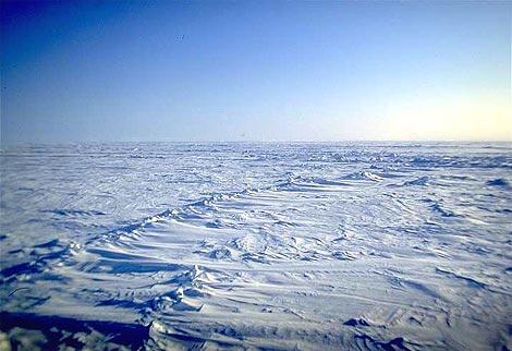 ... sobre a reducao do gelo acima do mar e um crescimento significativo de