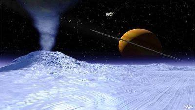 Concepçao artíistica de Enceladus