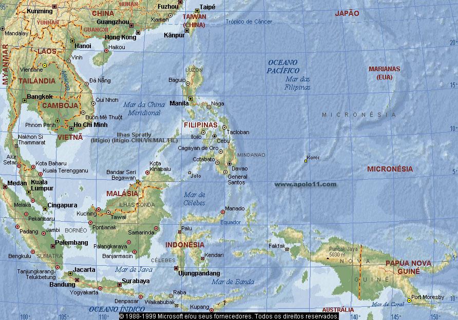 Filipinas Mapa 18246 | ZWALLPIX